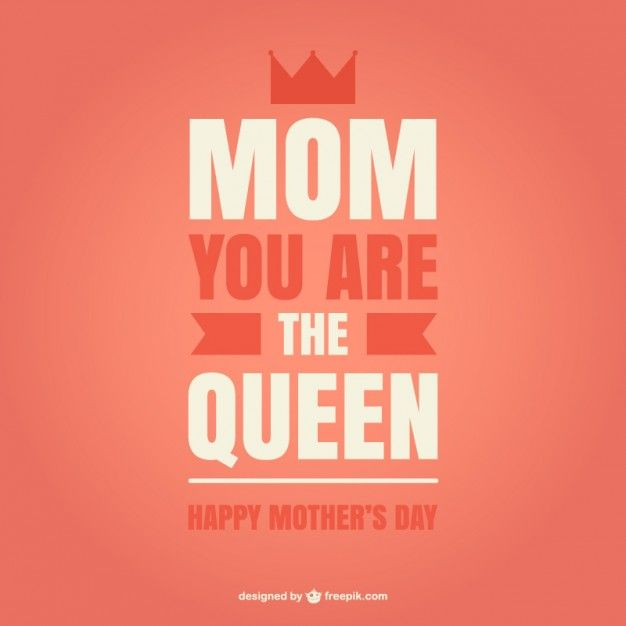 Mother's Day Queen Style Card Free Vector