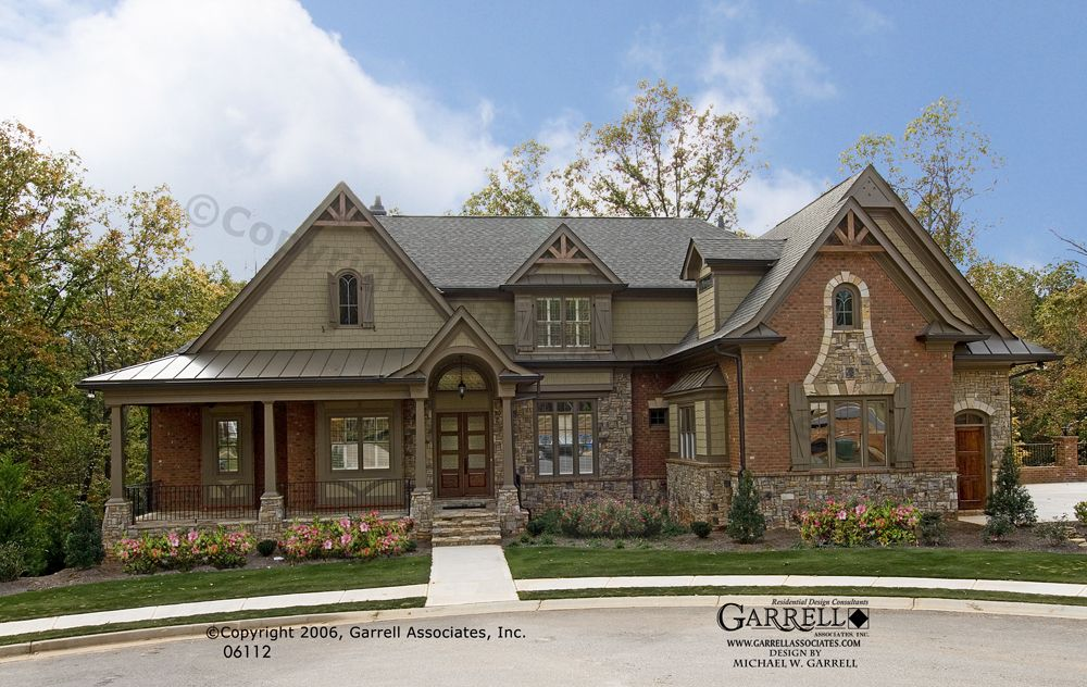 Mountain Style House Plans: Bellevue House Plan # 06112, Front Elevation, Craftsman