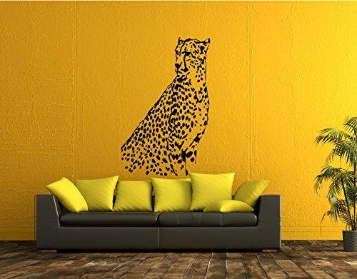Ik52 Wall Decal Sticker Room Decor Wall Art Mural Cheetah Living Room Bedroom Interior StickersForLife http://www.amazon.com/dp/B00SFH87IW/ref=cm_sw_r_pi_dp_R28cvb1MXRDY7