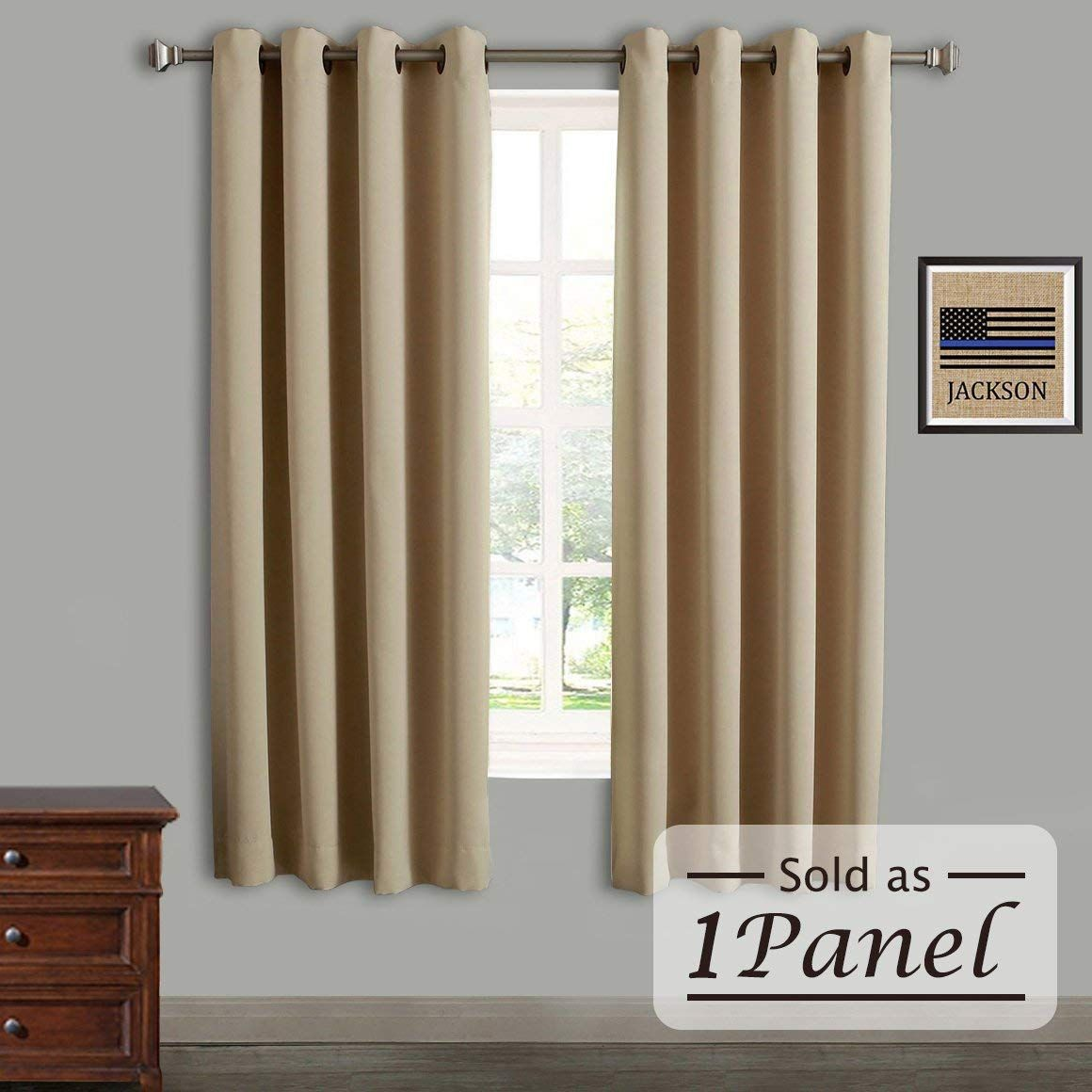 Rose Home Fashion Rhf Blackout Thermal Insulated Curtain Antique Bronze Gr Insulated Curtains Insulated Blackout Curtains Thermal Insulated Blackout Curtains