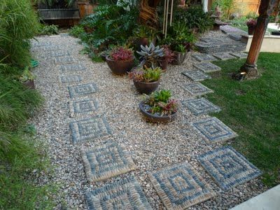 Gardens With Stones And Pebbles Jeffrey bales world of gardens building a pebble mosaic stepping jeffrey bales world of gardens building a pebble mosaic stepping stone this one is done with mexican beach pebbles workwithnaturefo