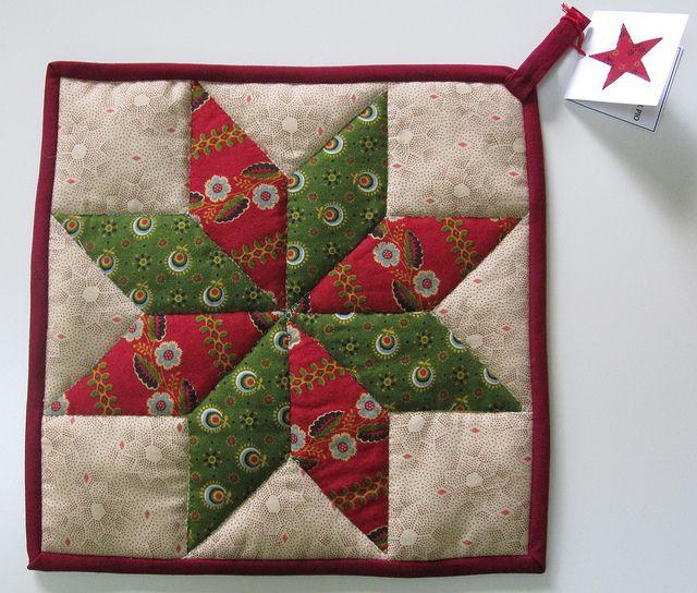 Potholder Lemoyne Star Pattern Quilting Projects Barn