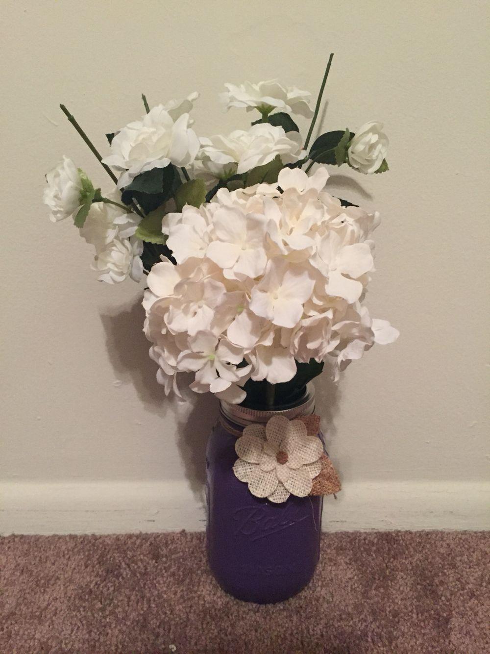 Mason Jar Flower Vase Pinterest on pinterest tin can vases, pinterest crafts vases, fall mason jar vases,