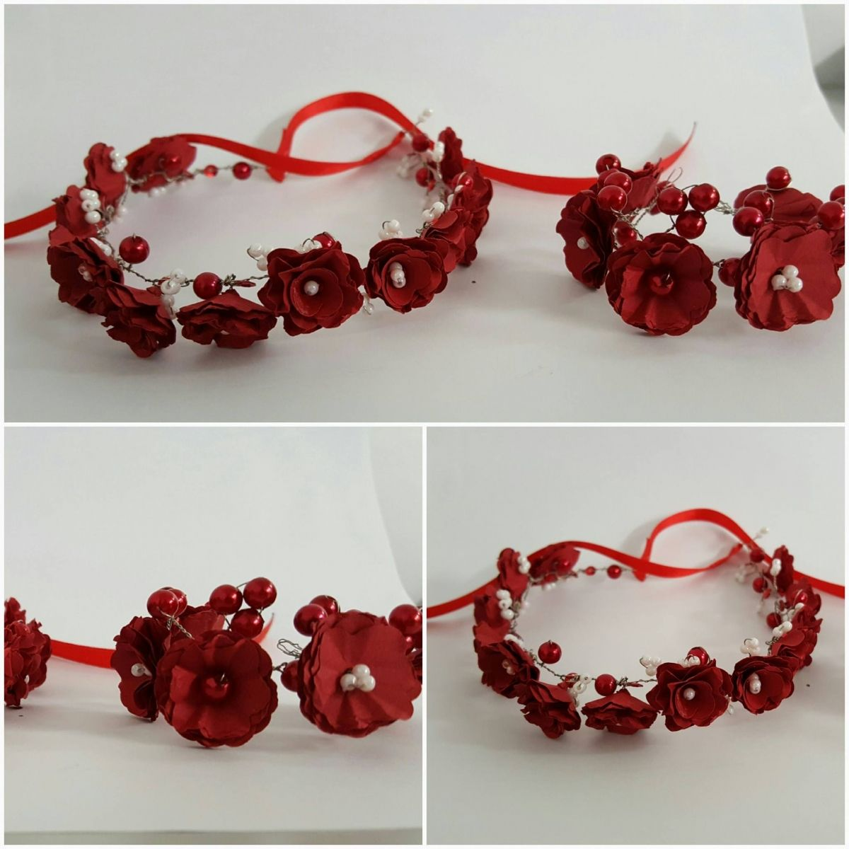 Flower #Hair #bands - Flowers made from #High-Quality #Craft #Paper ...