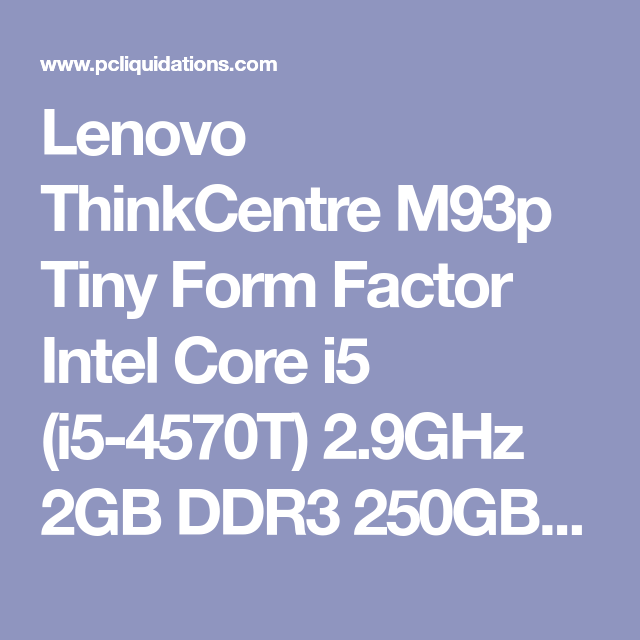 Lenovo ThinkCentre M93p Hotkey Drivers for Mac