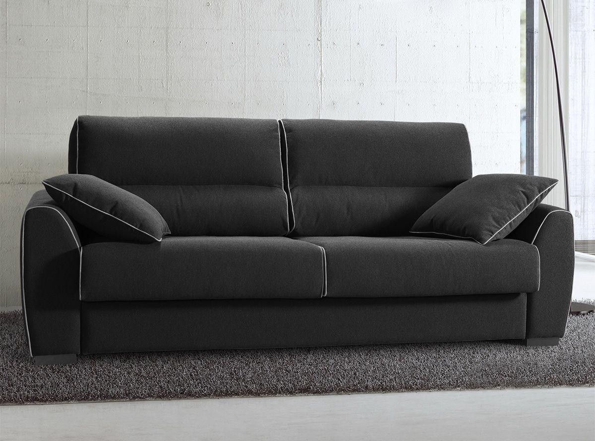 BACH Sofá cama con sistema de apertura italiano y colchón de espuma ...