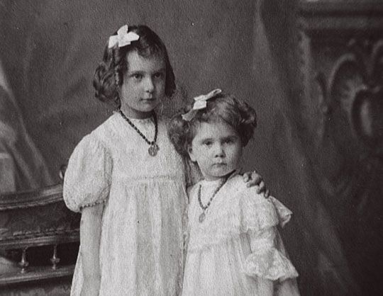 "Princesses Irina and Natalie Pavlovna Paley,the daughters of thd Grand Duke Pavel Alexandrovich Romanov of Russia from his second marriage.  ""AL"""