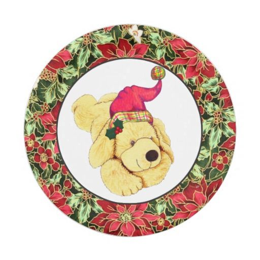 Christmas Puppy Holiday paper plate  sc 1 st  Pinterest & Christmas Puppy Holiday paper plate   Christmas Year Round ...