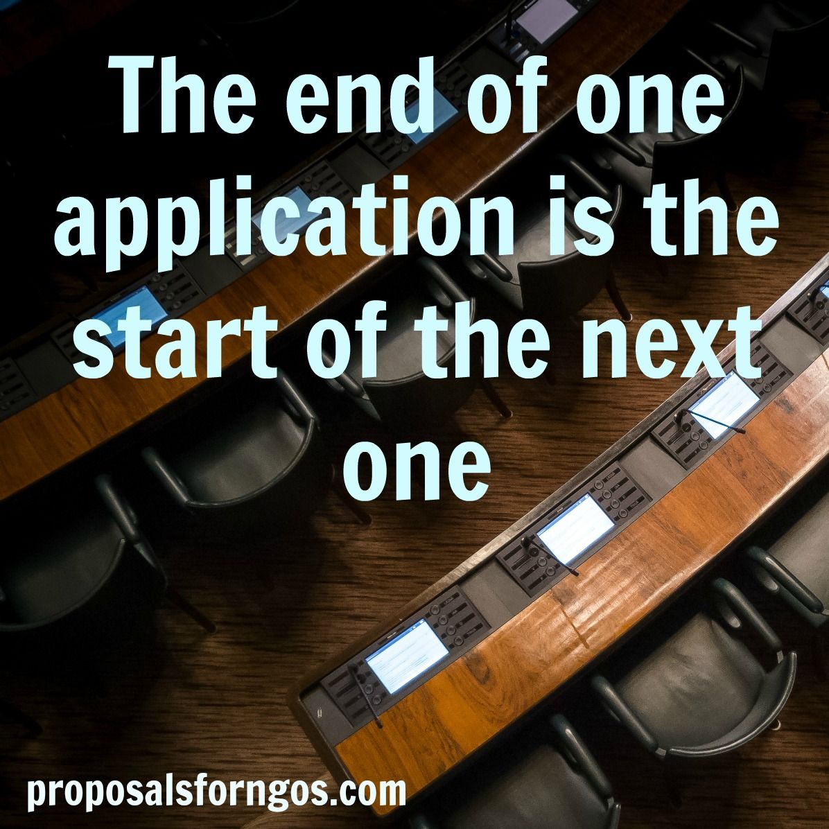 The End Of One Application Is The Start Of The Next One