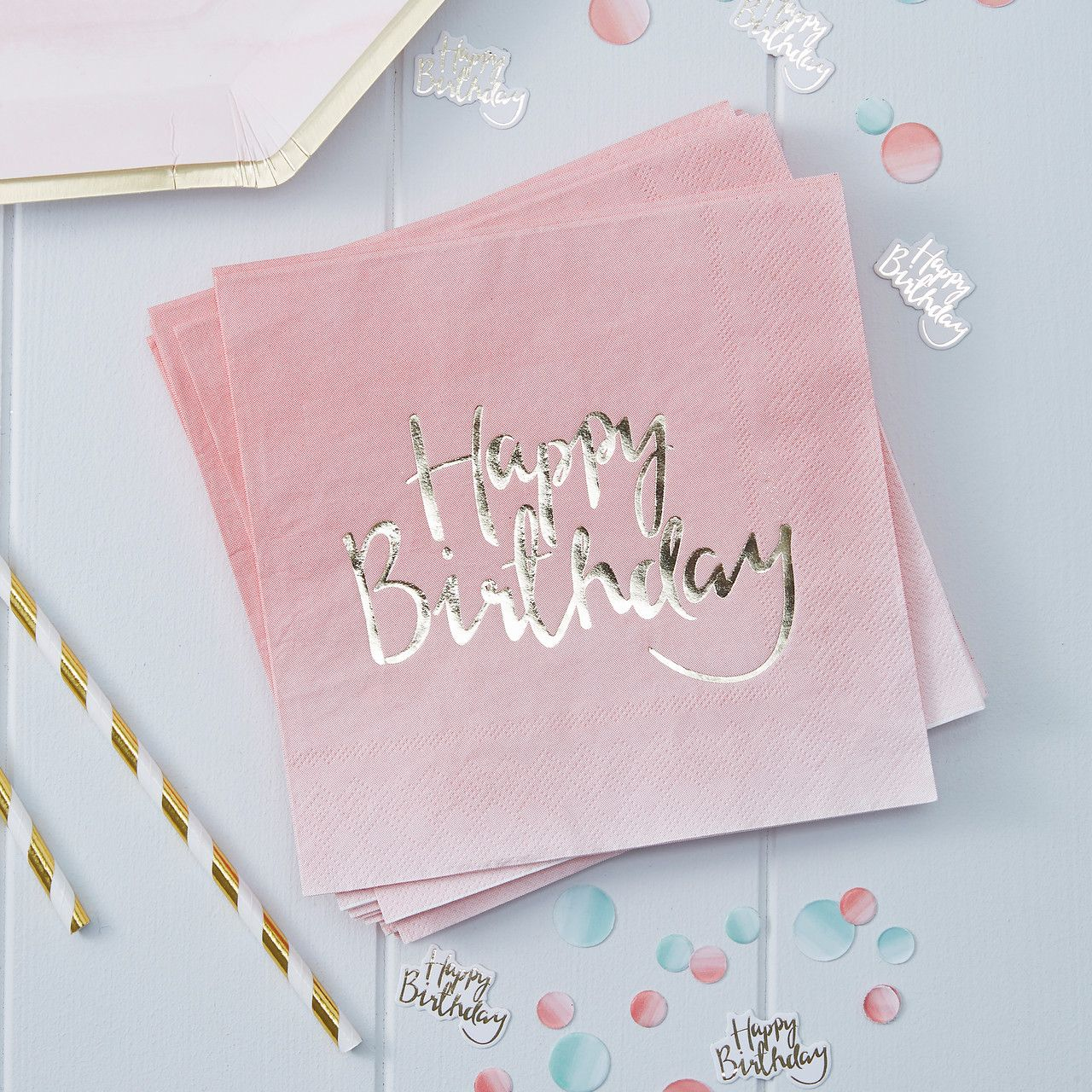 Decoration Anniversaire Rose Argent Birthday Party Silver And Pink
