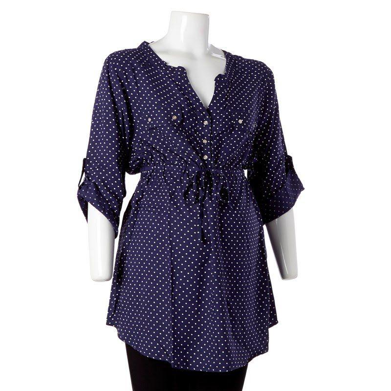 Drawstring Waist Maternity Tunic 384150772   Shirts ...
