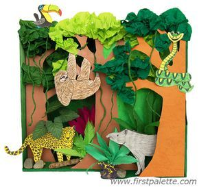 Landen - Wereld - Habitat - Rainforest Habitat Diorama - Ook andere habitats - First Palette