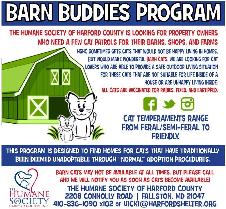 Barn Cat Buddies Humane society, Barn, Harford county