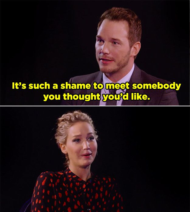 Chris Pratt And J. Law Had Some Seriously Sick Burns For Each Other