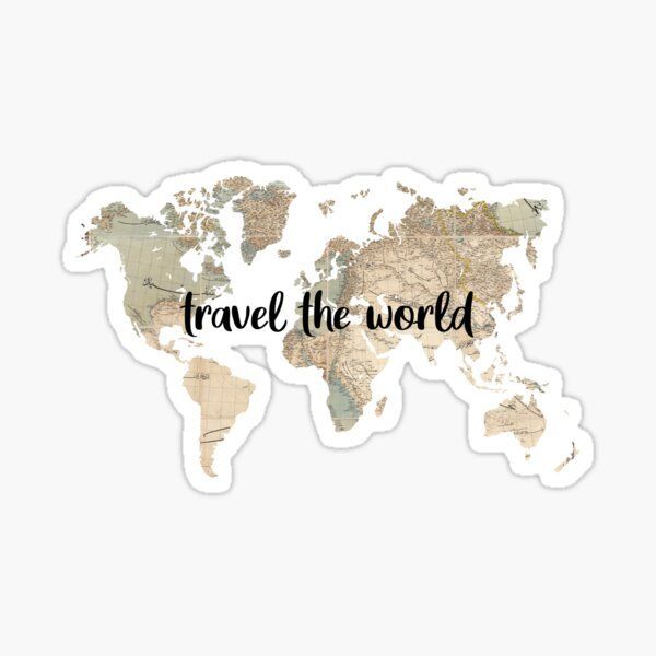 Hannah Wang Shop Redbubble Travel Stickers Aesthetic Stickers Preppy Stickers