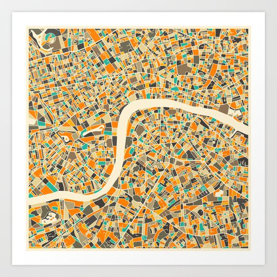 Buy LONDON MAP by Jazzberry Blue as a high quality Art Print. Worldwide shipping available at Society6.com. Just one of millions of products available.