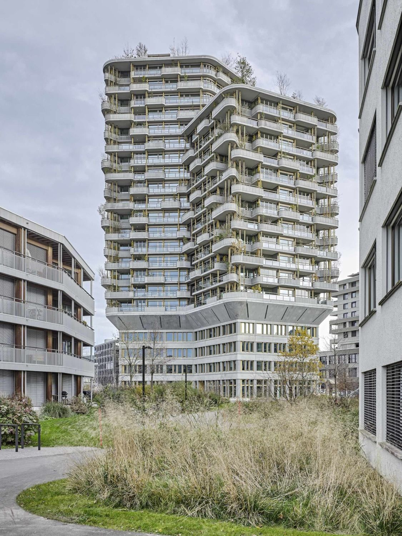 Stadtkrone Von Suurstoffi Wohnhochhaus Bei Luzern Von Ramser