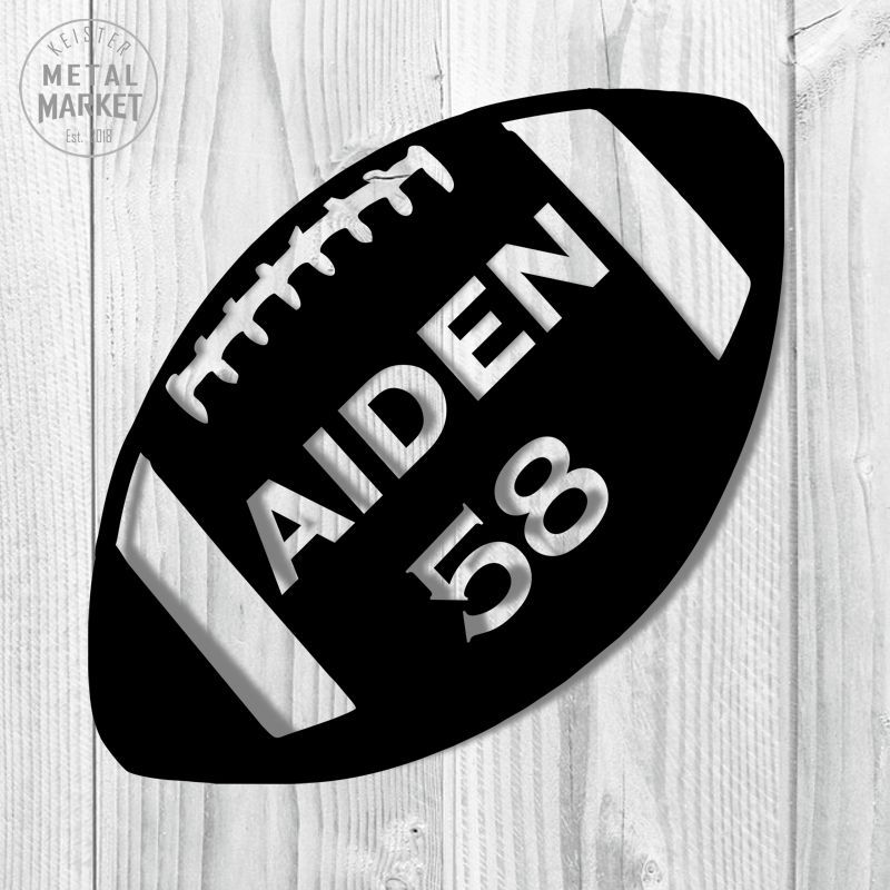 Football solid personalized monogram sports decor in 2020