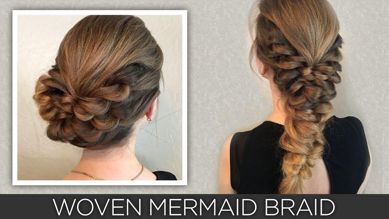 Woven mermaid braid no hair to spare pinterest braids hair