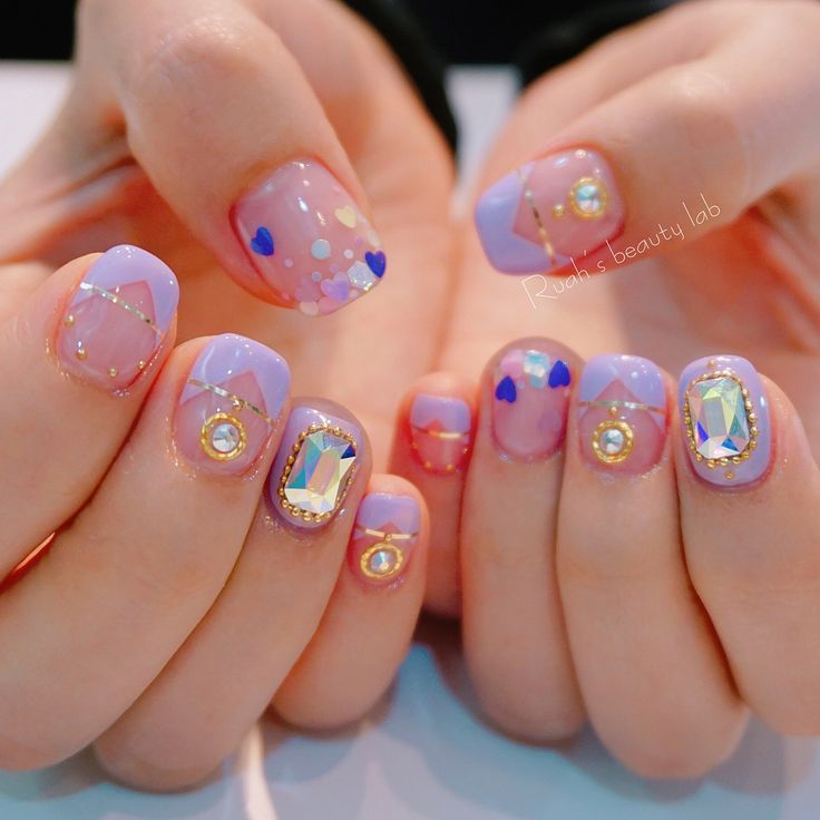 Korean Nail Art Idea #Nail #Cute #Akiwarinda  #nailart #koreannailart