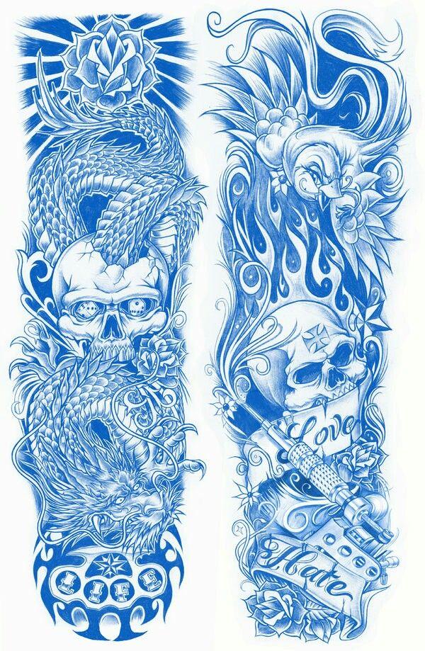 Skull sleeves Tattoo sleeve designs, Tattoo design