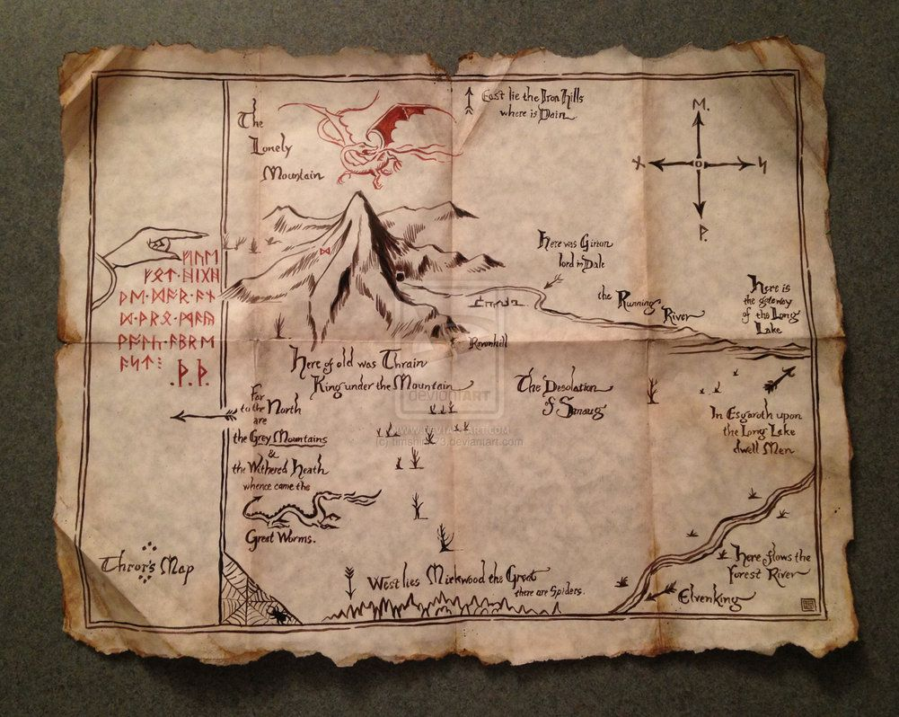 Thrors Map From The Hobbit by timshinn73 on deviantART  Cottage