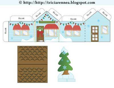 Printable Christmas Gift Boxes And Paper Crafts Boxes Free Christmas Printables Recycle Christmas Cards Christmas Printables