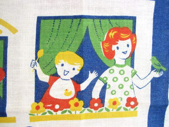 Vintage London Towel Children's Society by NeatoKeen on Etsy, $32.00