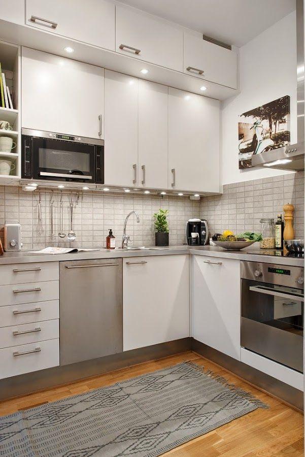 El rosa s est de moda cocinas blancas muebles de for Distribucion de muebles de cocina