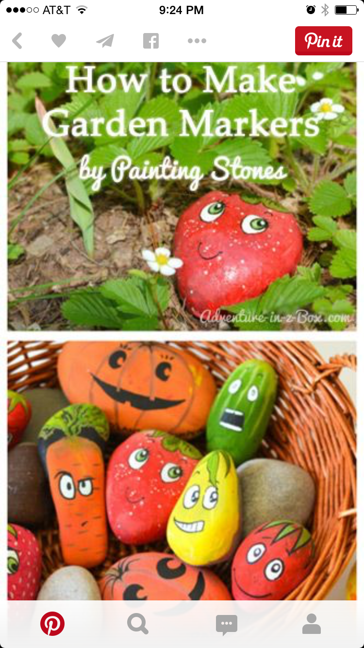 Vegetable Garden · Kids Could Make These In The Spring!