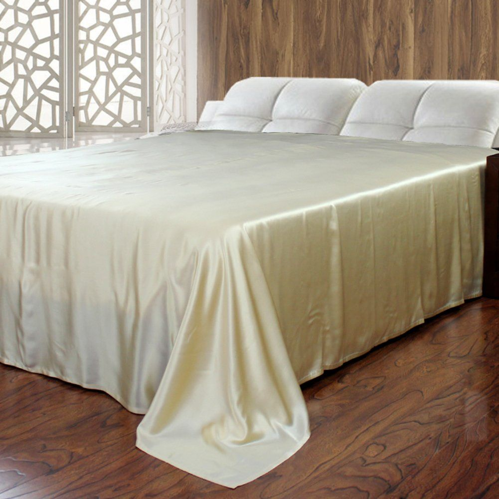 Pure Silk Bed Sheet Thick Seamless Sheets H 270x280cm 106x110inch