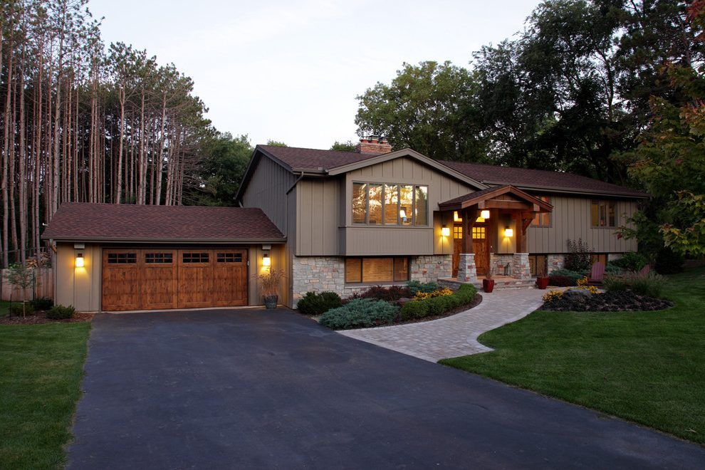 Raised Ranch Facelift Exterior Traditional With Path