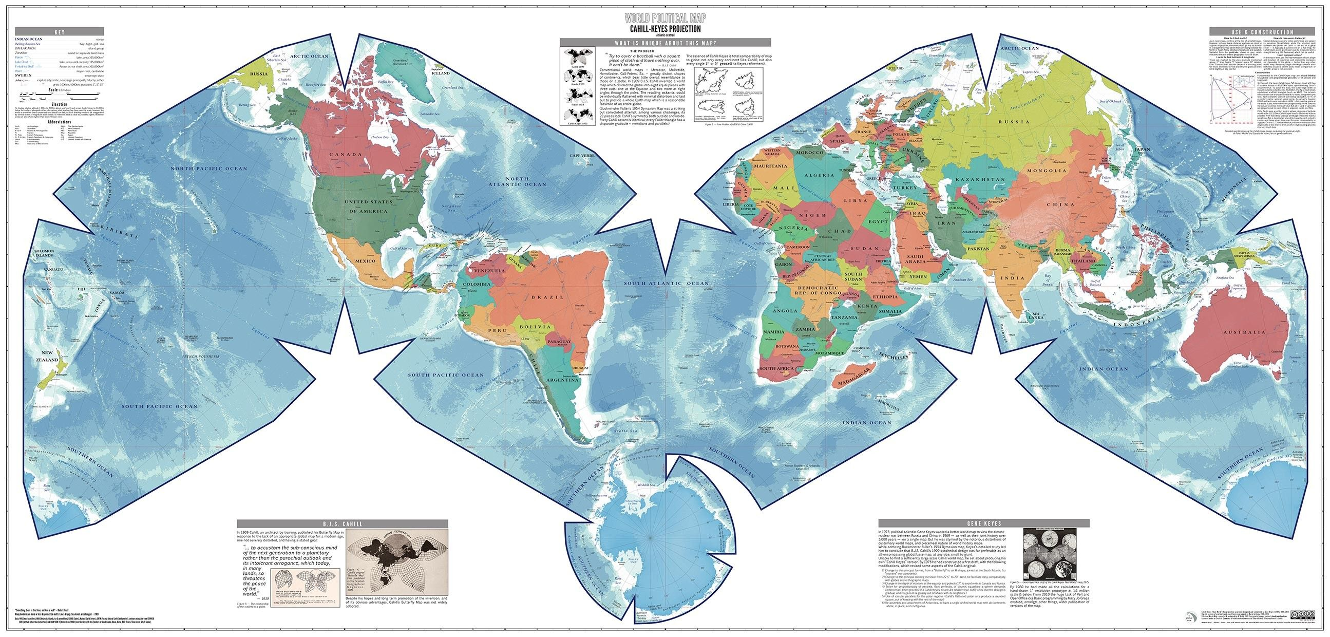 World Map Africa Continent Copy Accurate Size In | World map ...