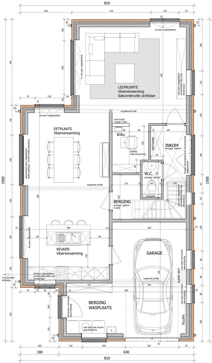 Verdeling huis plattegrond nieuwbouw haus bauen haus for Ontwerp plattegrond