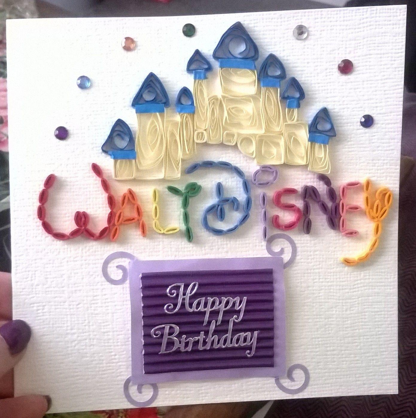 Walt Disney birthday card ) Disney birthday card