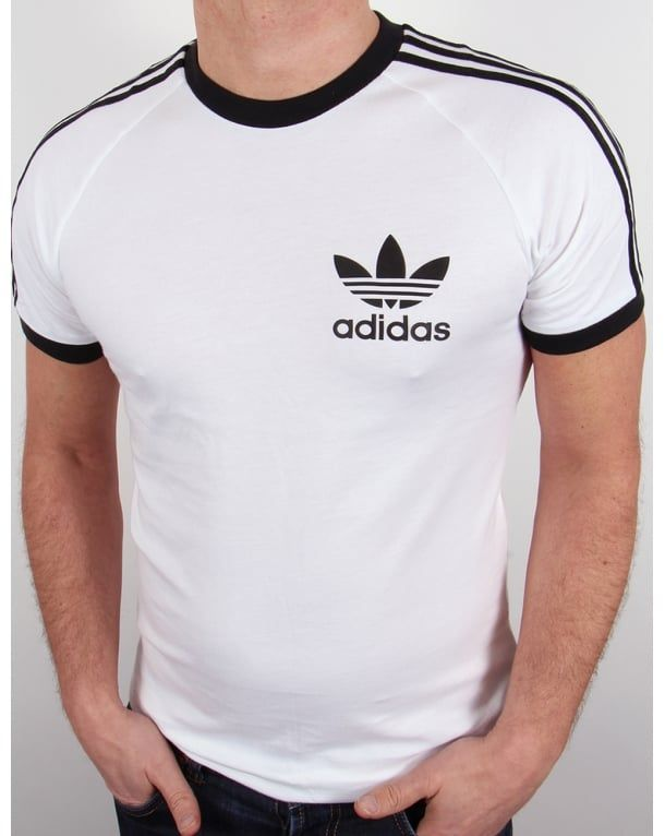 a64fa99a9a Adidas Originals Retro 3 Stripes T-shirt White | Adidas: All Day We ...