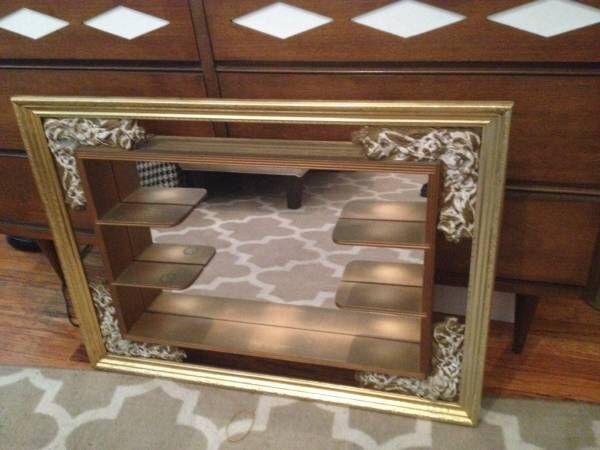 Mid Century Modern Shadow Box Mirror Found At Goodwill