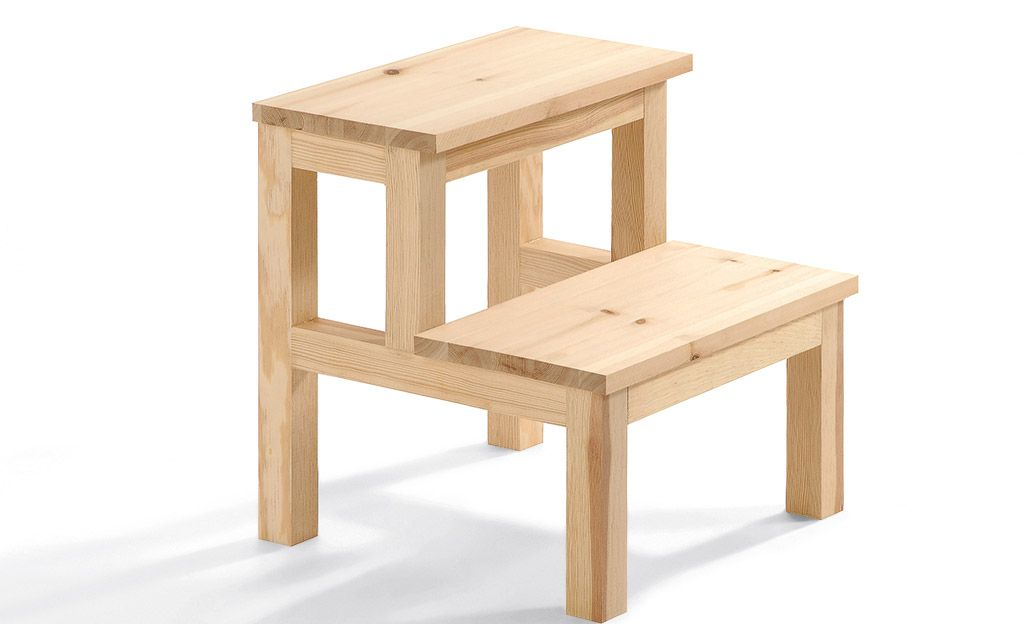Holztritt Selber Bauen Mobel Holz Hocker Und Hocker Holz