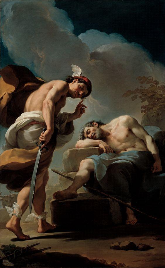 Ubaldo Gandolfi Italian 1728 1781 Mercury About To Behead