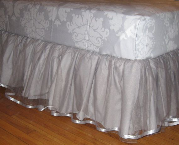 daybed tulle bedskirt select your size multiple by cosmofields girls bed tulle. Black Bedroom Furniture Sets. Home Design Ideas