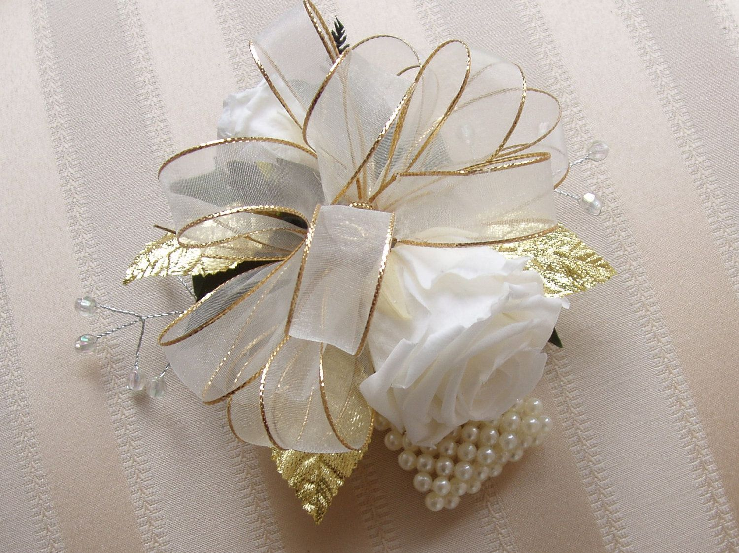 Dresses for 50th wedding anniversary party  TH Golden WEDDING Anniversary CORSAGE Boutonniere Preserved Rose