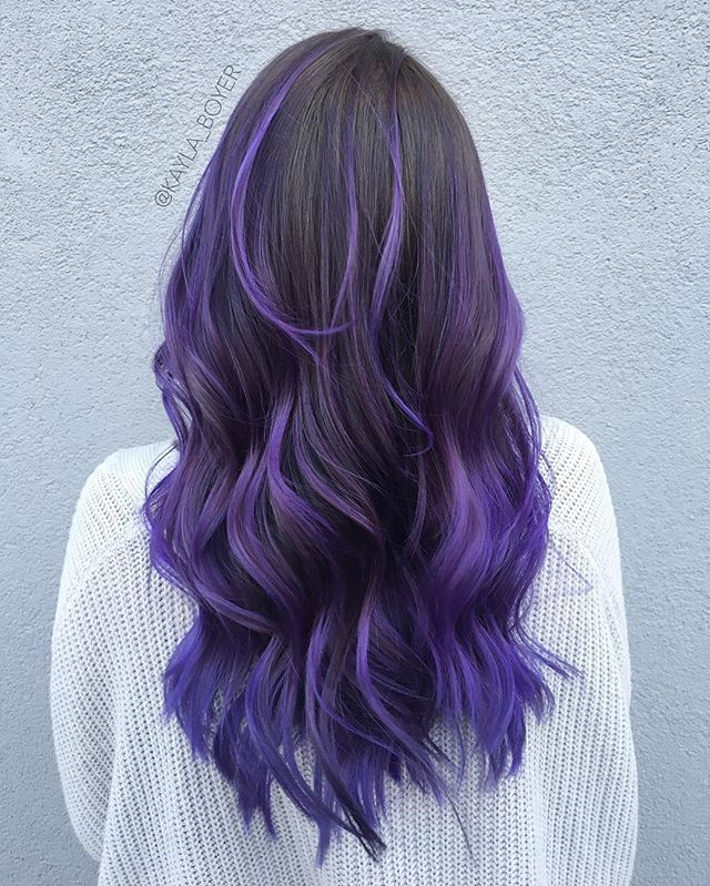 colorful hair styles brown black to purple ombre bold hair colors in 2257 | 5b2257b12f6ab776cf859230e318c5cd
