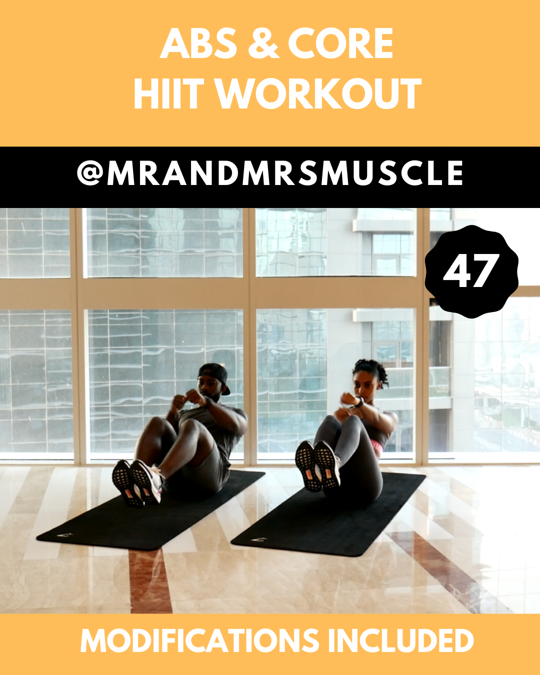 Abs & Core HIIT with Beginner Modifications