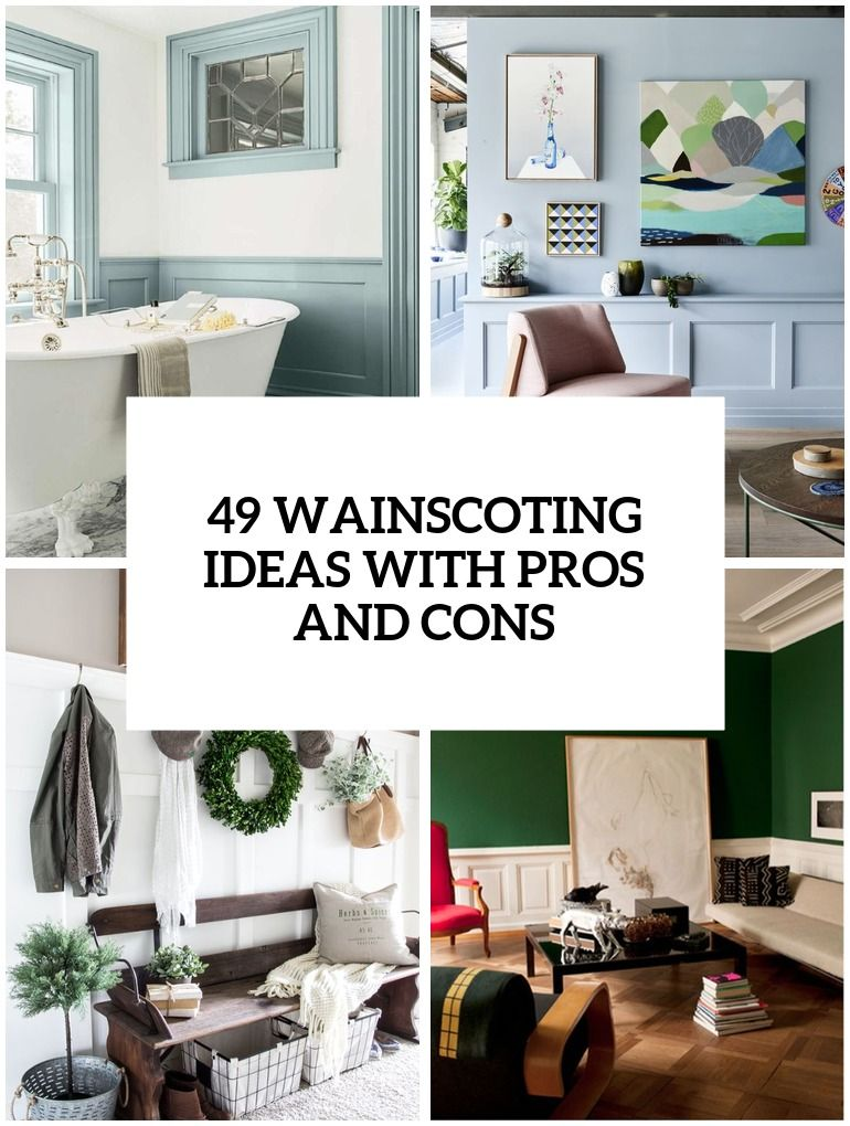 49 wainscoting ideas with pros and cons in 2020  chair