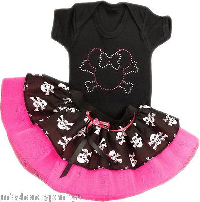 Red Minnie Mouse Baby Grow Polka Dot Tutu Skirt 80s fancy dress Costume Set Kids