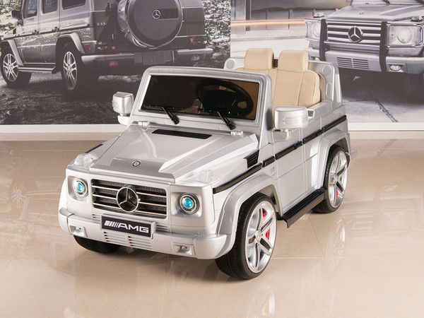 Mercedes-Benz Big Remote Control Electric Ride On G55 AMG G Wagon For Kids W/Rubber Tires and Opening Doors