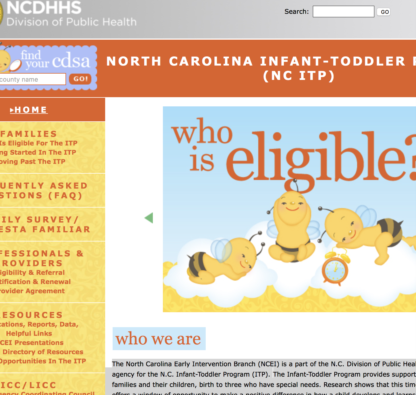 The North Carolina Early Intervention Branch Ncei Is A