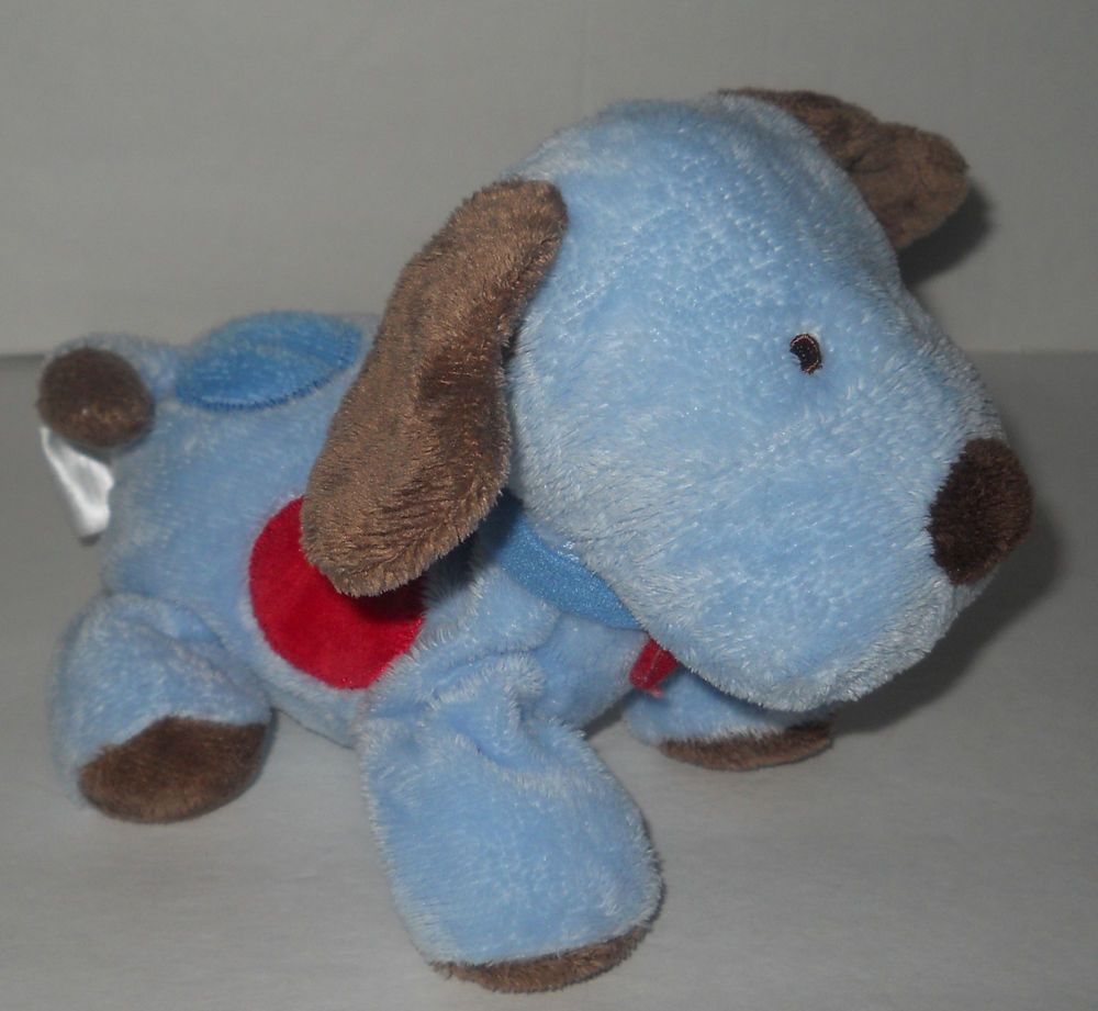 Carters Child Of Mine Blue Brown Puppy Dog Plush Stuffed Animal - Dog obsessed with stuffed santa toy gets to meet her idol in real life