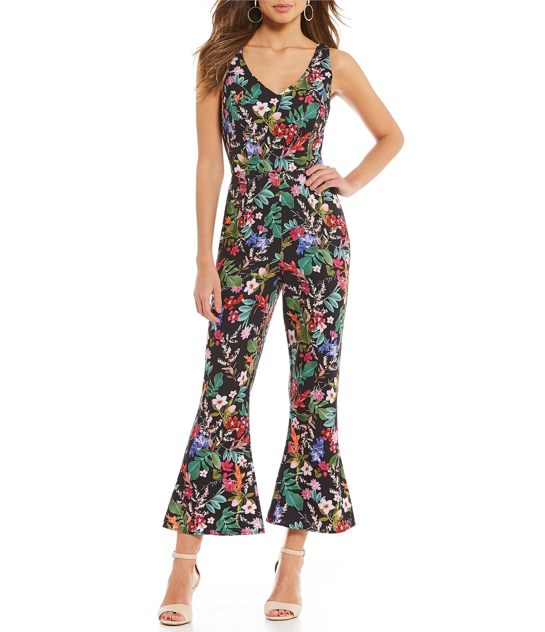 da46774e303 Shop for Gianni Bini Sophia Floral Print Cropped Flared Jumpsuit at  Dillards.com. Visit Dillards.com to find clothing