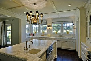 """Flat coffered ceiling (1""""x4""""s with detail moldings)"""